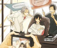 Tags: Anime, School, Katekyo Hitman REBORN!, Camera, Hibari Kyoya, Window, Yamamoto Takeshi
