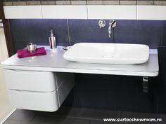 Lavoar & consola: Duravit Pura Vida / Baterie lavoar: Hansgrohe Axor Uno 2 Duravit, Console, Bathroom, Pura Vida, Washroom, Full Bath, Bath, Bathrooms, Roman Consul