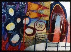 """New Elemental Dawn"", woodcut by Karen Kunc"