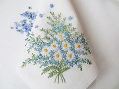 Set of 3 Machine Embroidery Designs  Daisies & by RoyalPresentEmb