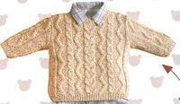 [Tricot] Der irische beige Pullover – The Knitting Shop und Creative Leisure … Crochet Baby, Knit Crochet, Pull Beige, Bordados E Cia, Boys Sweaters, Beige Sweater, Sweater Knitting Patterns, Knitting For Kids, Baby Patterns