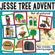 The Jesse Tree is a chronological advent countdown of the scriptural events that occurred before Jesus's birth. There are many ways to participate in this countdown, and I've taken some creative liberty to design a simple version for younger kids. Traditionally this project is done as a Christmas advent, starting on December 1st--but these printable felties are versatile enough to use as a colorful addition to a history timeline, as a family night game of Bible-themed memory or