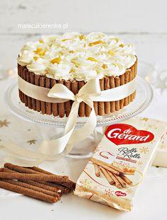 Tort Brzoskwiniowy z Jogurtem Bez Pieczenia - PRZEPIS Mała Cukierenka Krispie Treats, Rice Krispies, Pie Flavors, Malaga, Cereal, Rolls, Sweets, Apple, Baking