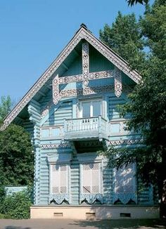 Russian wooden house in Moscow. #architecture