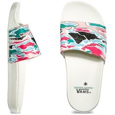 Vans Womens Slide-On ( 32) ❤ liked on Polyvore featuring shoes 587f5a08f