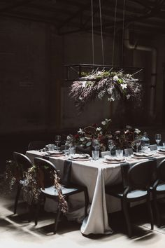 Moody industrial tablescape | Jessica Connery Photography on @limnandlovely via @aislesociety