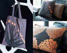 Cushions and organic shopping bag