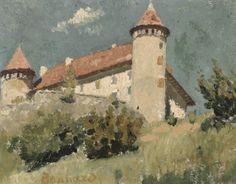 Château de Virieu, maison à la tourelle aux environs du Grand- Lemps, Pierre Bonnard, 1888.