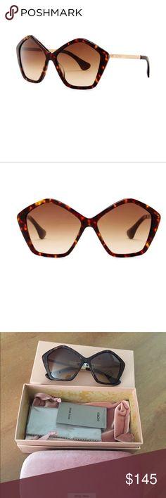 MIU MIU CULTE Pentagon Sunglasses Brand new Pentagon Havana Frame Sunglasses Miu Miu Accessories Sunglasses