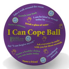 """I Can Cope"" Ball: this would be good for an elementary coping skills small group"