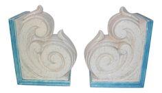 Vintage Decor, Bookends, Decor Ideas, Pairs, Shapes, Ceramics, Blue, Ceramica, Pottery