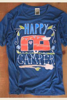happy camper indigo pigment tee