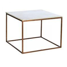 Tisch aus Marmor mit Kupferantikgestell