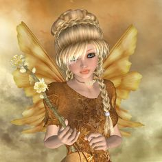 Let the Spirit shine...#faerie #art #gold