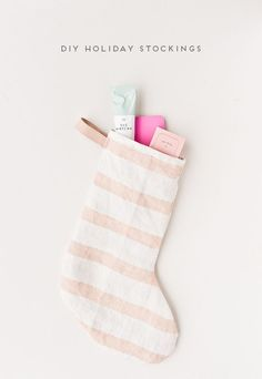 DIY Holiday Stockings (using old tea towels)