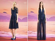 Gucci Resort 2014 \\ Honestly WTF \\ not one to pin clothes but this Metallic Blue Polka Dot Dress is to die for!