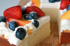 Summer fruit chiffon cake recipe on Food52