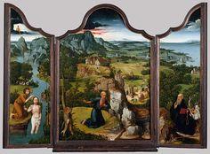 Joachim Patinir (c.1474-1524). The Penitence of Saint Jerome, triptych. C. 1518. Oil on wood. The Metropolitan Museum of Art - New York - USA. http://www.metmuseum.org | https://www.facebook.com/metmuseum