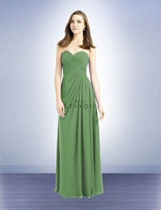 mint bridesmaid dresses - bill levkoff pistachio long chiffon ...