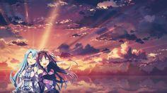 Konno Yuuki  Yuuki Asuna  Sword Art Online  Anime  Anime Girls  Sunlights  Clouds Wallpaper B4vrxxhudz