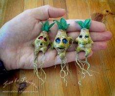 Tender Mandrakes by Silver Berry.  Ooak Art Doll One of a Kind Fantasy Sculpture.