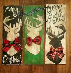 2016 Holiday Collection. Handpainted. Deer Silhouette. Merry Christmas. Wooden signs. Follow The Lytle Barn on Instagram and Facebook!!!