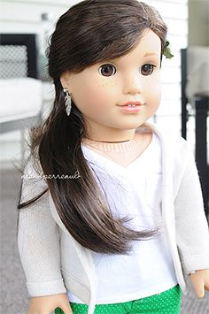Custom OOAK American Girl Doll Blue Eyes And Extra Long Blonde - Doll hairstyles for grace