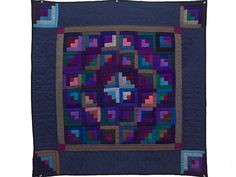 Log Cabin Quilt -- outstanding made with care Amish Quilts from Lancaster (wh4970)