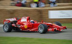 Marc Gene in the Ferrari F2007 F1 car