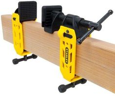 Stanley came out with a new beam clamp that works with standard 2x4 lumber.