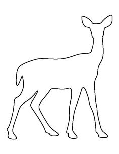 Doe pattern. Use the printable outline for crafts, creating stencils, scrapbooking, and more. Free PDF template to download and print at http://patternuniverse.com/download/doe-pattern/