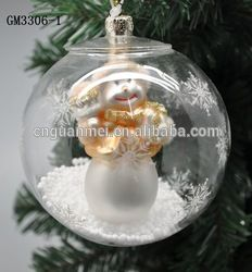 Traditional Stained Open Glass Ball Ornaments For Christmas