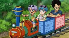 Vegeta-father of the year. Doing something he hates to make his family happy ^.^
