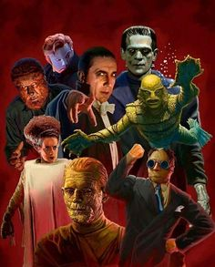"Universal Classic Monsters Art : ""The Universal Classics"" by Daniel Horne"