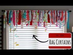 Turn Your Fabric Scraps Into These Cute, No Sew Curtains! -I want to make Monkey a Tutu that looks like this!