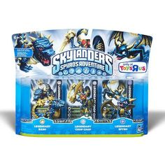 Skylanders Character Adventure Figures Legendary Bash, Legendary Chop Chop, Legendary Spyro by Activision, http://www.amazon.com/dp/B007VDMGMY/ref=cm_sw_r_pi_dp_B3Bpsb0A8KCPE