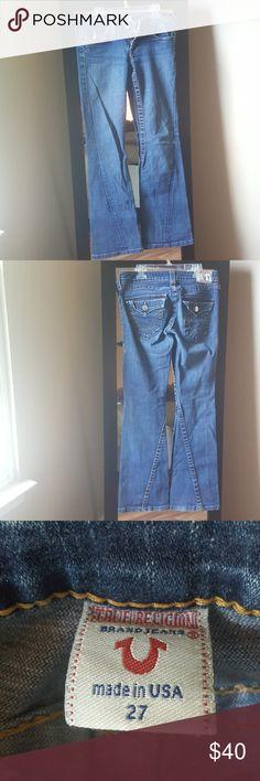 True Religion Joey Flare jeans True Religion Joey Flare jeans. Inseam is 30 inches True Religion Jeans Flare & Wide Leg