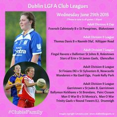We Are Dublin TONIGHT'S DUBLIN LGFA ADULT CUP AND LEAGUE FIXTURES - We Are Dublin