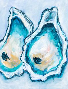 Oyster Print Oyster Painting World Is Your Oyster Coastal