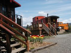 Iron Horse Inn Bed and Breakfast in Cle Elum Wa.  Sleep in a caboose!  We really enjoyed our stay.