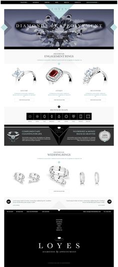 Jewellery Website Concept by Peter Barr, via Behance