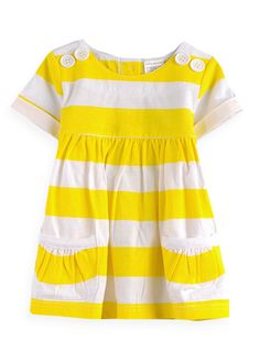 Pumpkin Patch - dress - cuffed sleeve gathered dress - S2CF80001 - golden sunset - newborn to 3