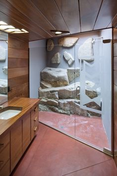 """stone wall bath - add in """"comfort padding"""" because I would fuck all over that shower.  A few more shower heads couldn't hurt either"""
