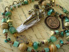 Boho Necklace, Urban Gypsy, Industrial Chic, Bohemian Jewelry, Boho Chic, Steampunk