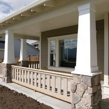 Craftsman+Style+Railings | Exterior column with tuscan capital. This column is a fluted column.