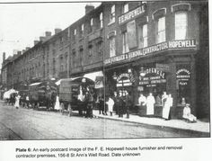 F E Hopewell Furniture shop, 156-158 St Ann's Well Road