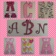 Sweet Love Unique Creations specializes in a variety of hand-painted craft items for any occasion! These are examples of wooden wall letters for baby girl nurseries and little girls' rooms! Order from anywhere in the country and have your items shipped to you at www.sweetloveuc.com!