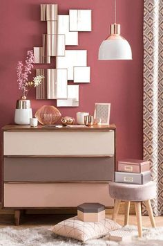 11 Cool Pink Bedroom Ideas That Can be Pretty - All Bedroom Design Home And Deco, Dream Decor, My New Room, Wall Colors, Paint Colors, Home Decor Inspiration, Color Inspiration, Bedroom Decor, Bedroom Ideas