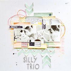 #papercraft #scrapbook #layout 4heures37, le blog !: Photo ci jointe Page de Mona sm