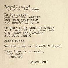 Very erotic valentine poems can